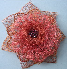 Crochet And Knitting : in stages, this no wilt corsage is composed of layers of knit ...