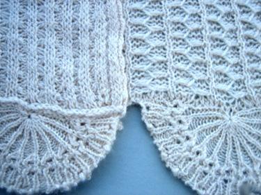 cashmere rib tuck stitch shawl