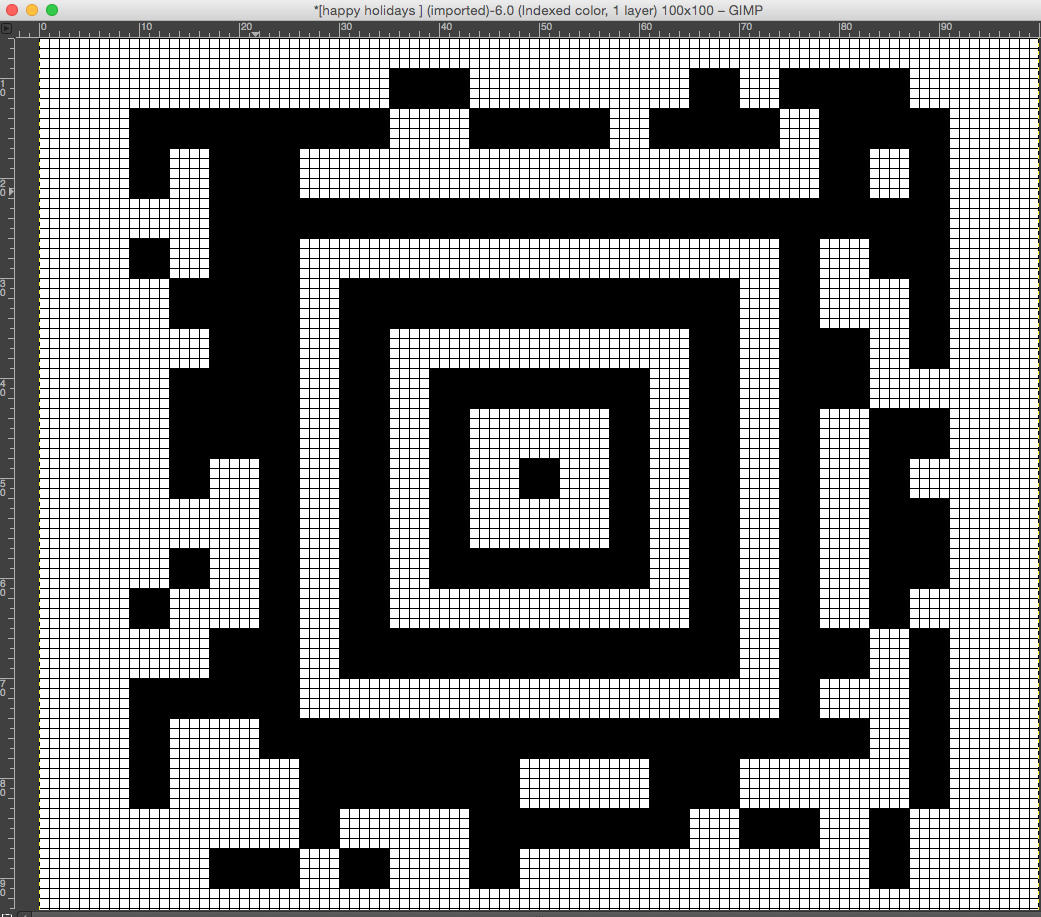 Knitting Stitches Codes : Knit QR codes 1, repeats from BW images   alessandrina.com