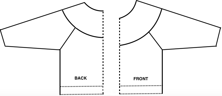 4eab50806a708 ... here is how they might appear in a partially seamed cardigan without  front bands. They may be created in varying widths or patterns
